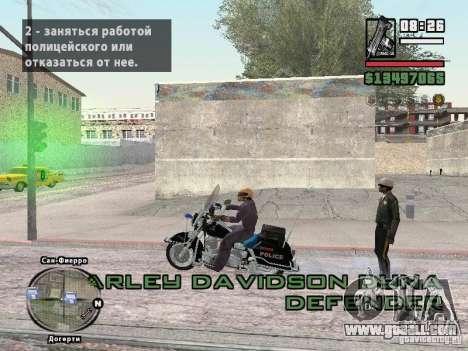 Helmet mod for GTA San Andreas third screenshot