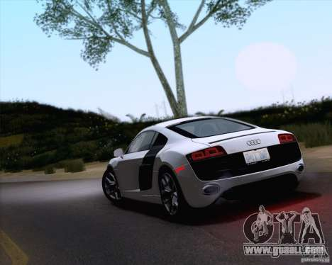 Audi R8 v10 2010 for GTA San Andreas left view
