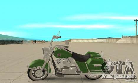 Harley Davidson Road King for GTA San Andreas left view