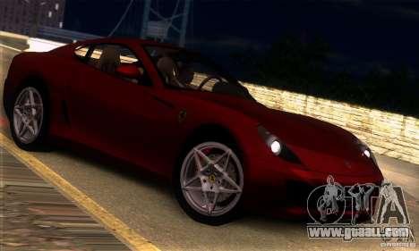 Ferrari 599 GTB Fiorano for GTA San Andreas right view