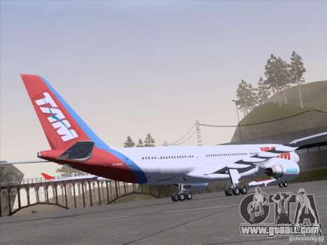 Airbus A330-223 TAM Airlines for GTA San Andreas inner view