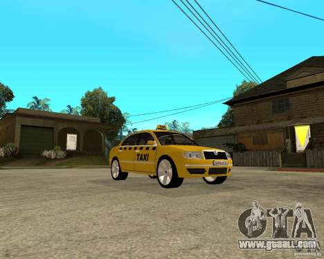 Skoda Superb TAXI cab for GTA San Andreas back view