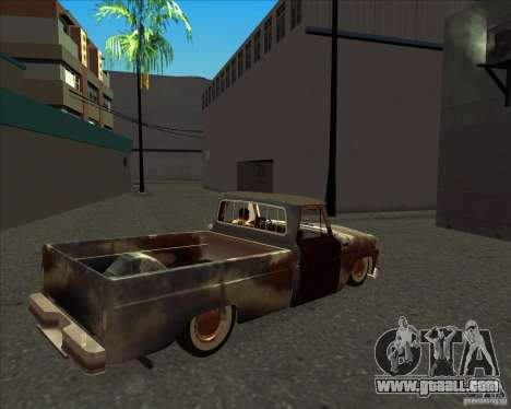 Chevrolet C10 Rat Rod for GTA San Andreas back left view