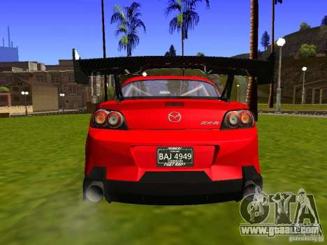 Mazda RX-8 R3 Tuned 2011 for GTA San Andreas back view