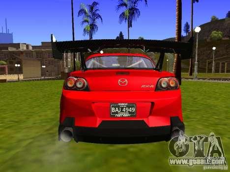 Mazda RX-8 R3 Tuned 2011 for GTA San Andreas back view