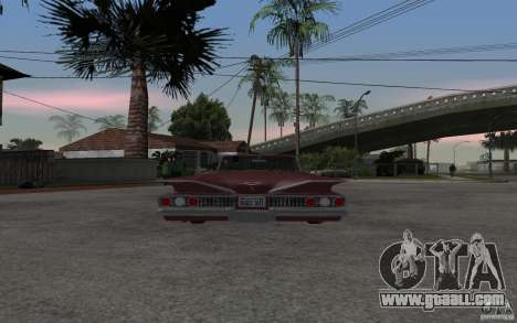Chevrolet Impala 1960 for GTA San Andreas back left view