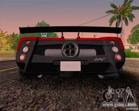 Pagani Zonda F v2 for GTA San Andreas right view