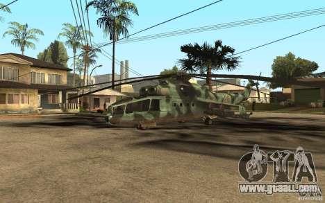 MI-24A for GTA San Andreas