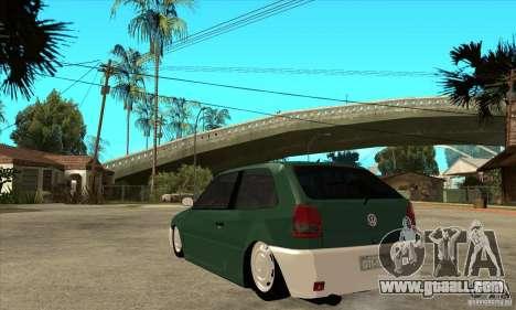 Volkswagen Gol v1 for GTA San Andreas back left view