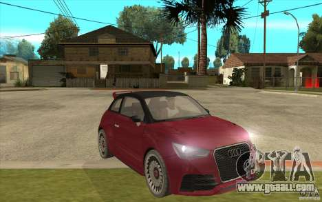 Audi A1 Clubsport Quattro for GTA San Andreas back view