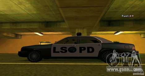 Merit Police Version 2 for GTA San Andreas left view
