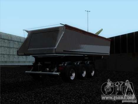 Trailer Schmitz for GTA San Andreas back view