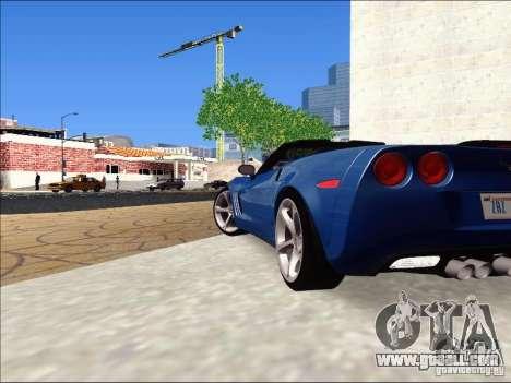 Chevrolet Corvette Grand Sport Cabrio 2010 for GTA San Andreas back left view