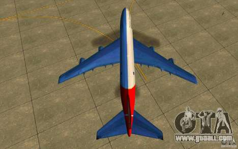 Boeing Qantas 747-400 for GTA San Andreas right view