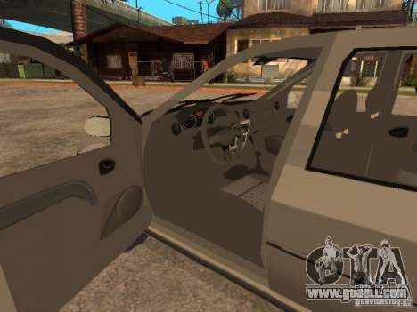 Dacia Logan 1.6 for GTA San Andreas upper view