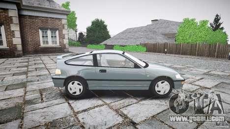 Honda CRX 1991 for GTA 4 side view