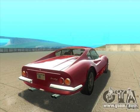 Ferrari Dino 246 GT for GTA San Andreas back left view