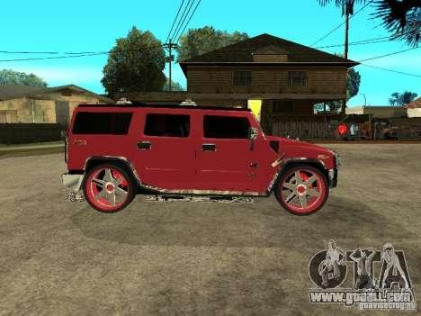 Hummer H2 Diablo for GTA San Andreas back left view