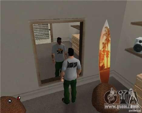 Green day t-shirt for GTA San Andreas