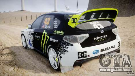 Subaru Impreza WRX STi 2009 Ken Block for GTA 4 right view