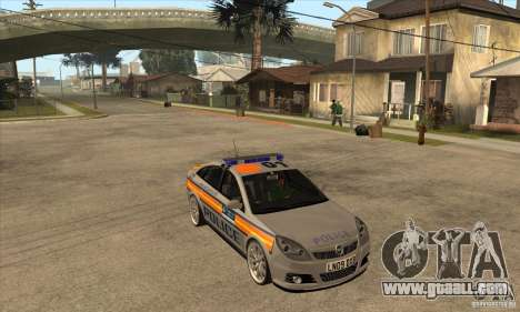 Opel Vectra 2009 Metropolitan Police for GTA San Andreas back view
