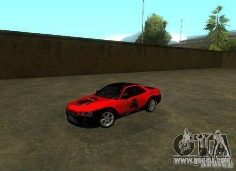 Nissan Skyline GTR-34 for GTA San Andreas interior
