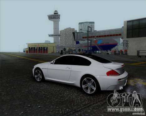 BMW 6 Series M for GTA San Andreas inner view