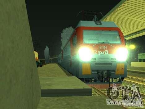 ÈP1M-392 OJSC «RUSSIAN RAILWAYS» for GTA San Andreas left view