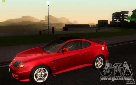 Hyundai Tiburon V6 Coupe 2003 for GTA San Andreas