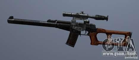 VSS Vintorez for GTA San Andreas third screenshot