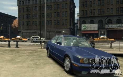 BMW 535i (E34) for GTA 4 back view