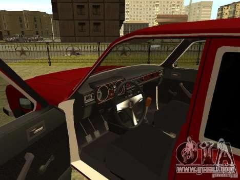 GAZ 3102 Volga for GTA San Andreas inner view