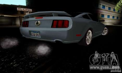 Ford Mustang GT for GTA San Andreas back view