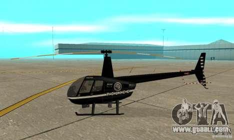 Robinson R44 Raven II NC 1.0 Black for GTA San Andreas back left view