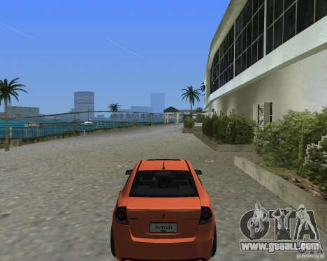 Pontiac G8 GXP for GTA Vice City back left view