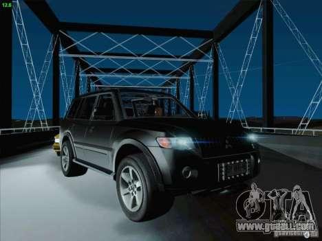 Mitsubishi Montero for GTA San Andreas upper view