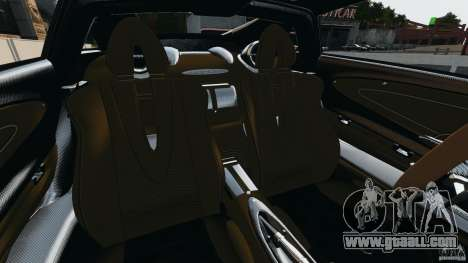 Pagani Huayra 2011 v1.0 [RIV] for GTA 4 inner view