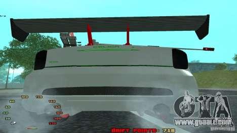 Toyota Celica v2 for GTA San Andreas back left view