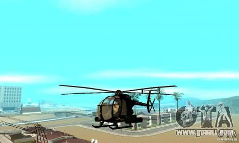 AH-6C Little Bird for GTA San Andreas inner view