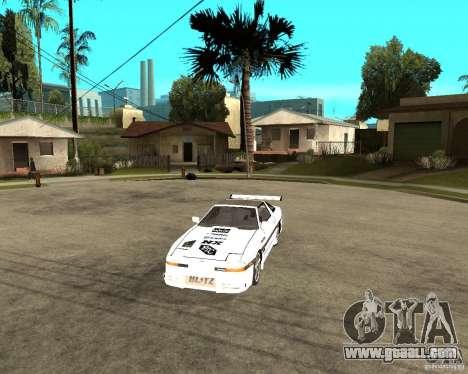 Toyota Supra MK3 Tuning for GTA San Andreas inner view