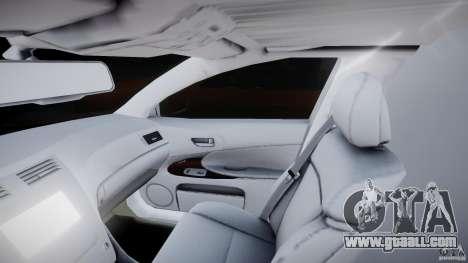 Lexus GS450 2006 Limousine for GTA 4 inner view