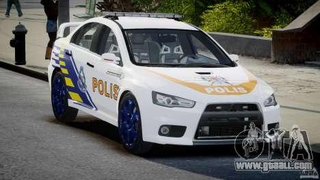 Mitsubishi Evolution X Police Car [ELS] for GTA 4