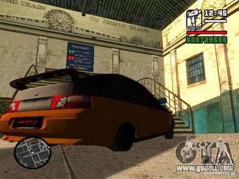VAZ 2110 HERTZ-style (D.A.G) Orange for GTA San Andreas back left view