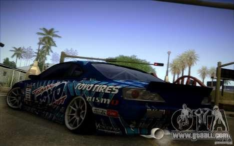 Nissa Silvia S15 Toyo for GTA San Andreas right view