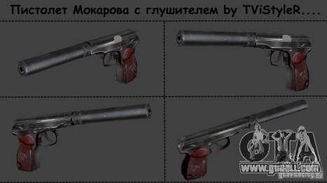 Makarov pistol with silencer for GTA San Andreas