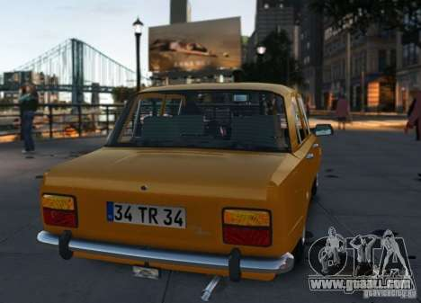 Fiat 124 for GTA 4 right view