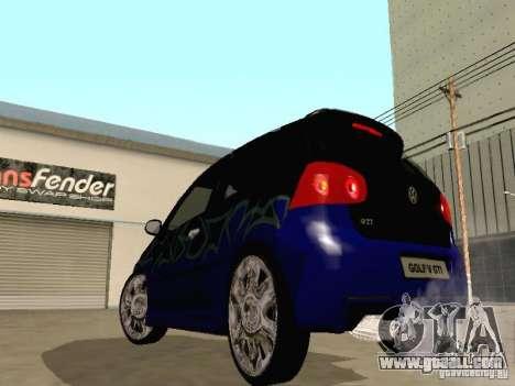 Volkswagen Golf V GTI for GTA San Andreas inner view