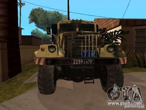 KrAZ 255 B1 v 2.0 for GTA San Andreas left view