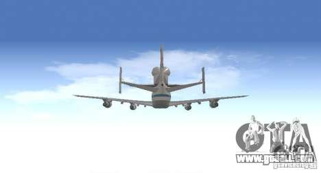 Boeing 747-100 Shuttle Carrier Aircraft for GTA San Andreas inner view