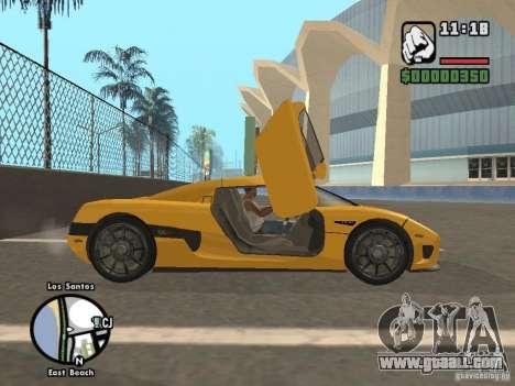 Koenigsegg CCX for GTA San Andreas back view